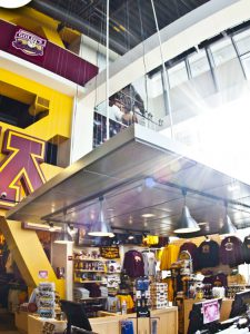 TCF Bank Stadium Goldy's Locker Room Interior